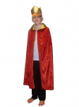 KING QUEEN RED CAPE WISE MAN FANCY DRESS COSTUME